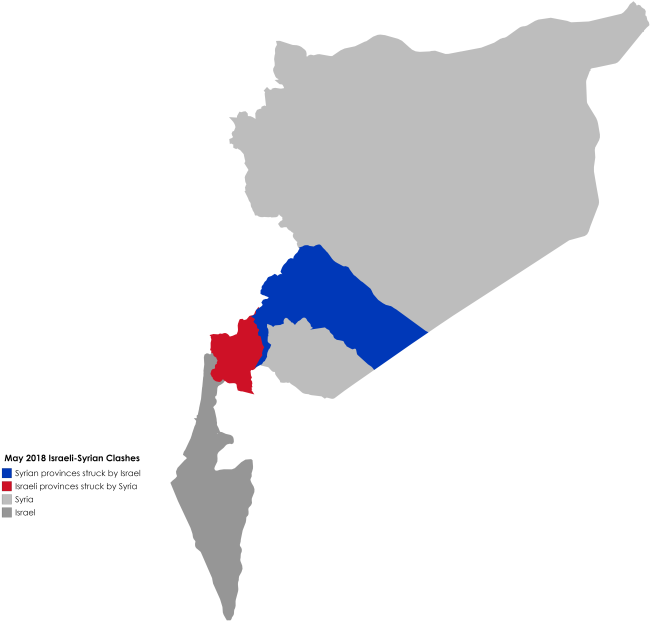 May 2018 Israeli-Syrian Clashes