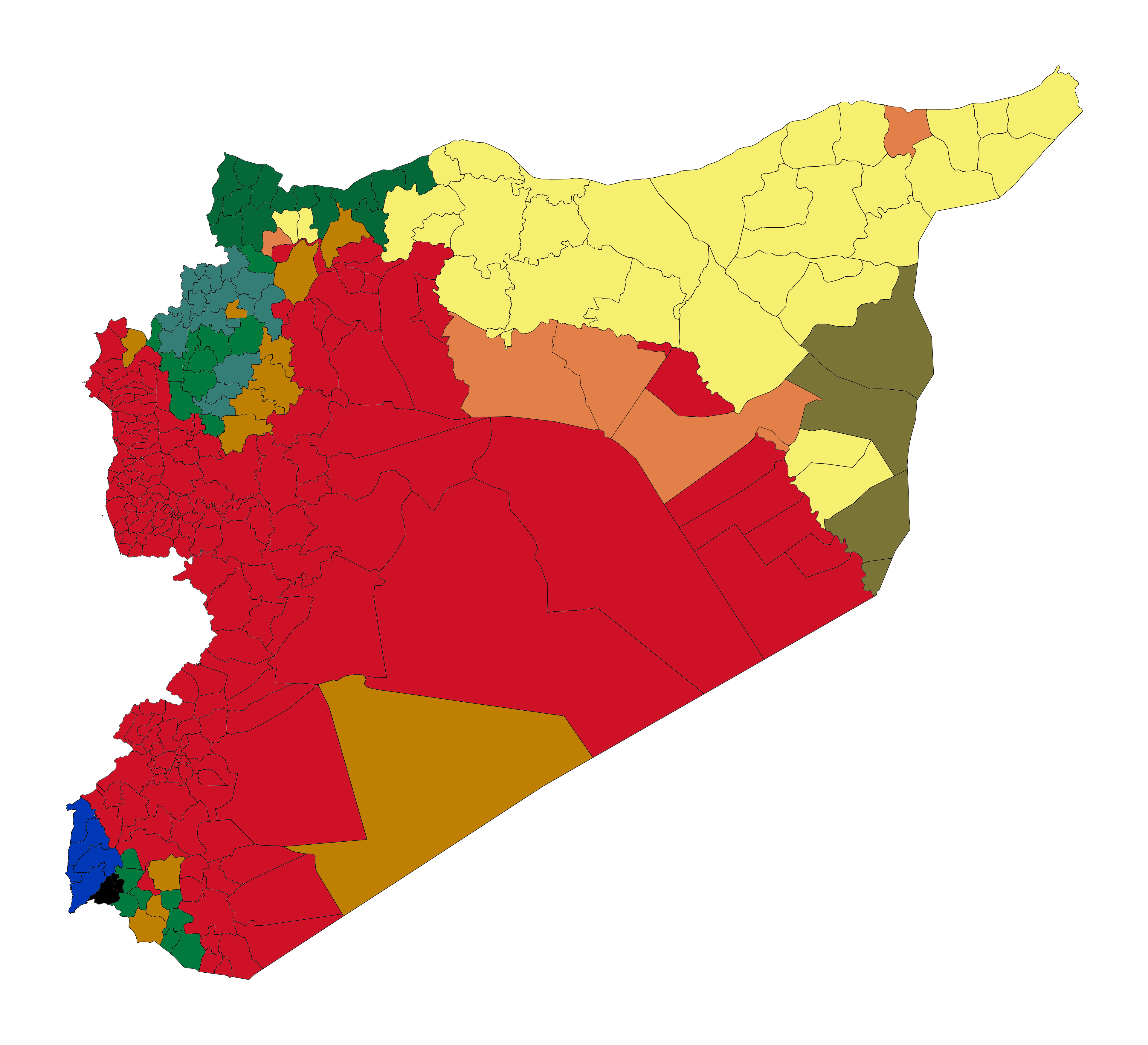 syria subdistricts control june 2018