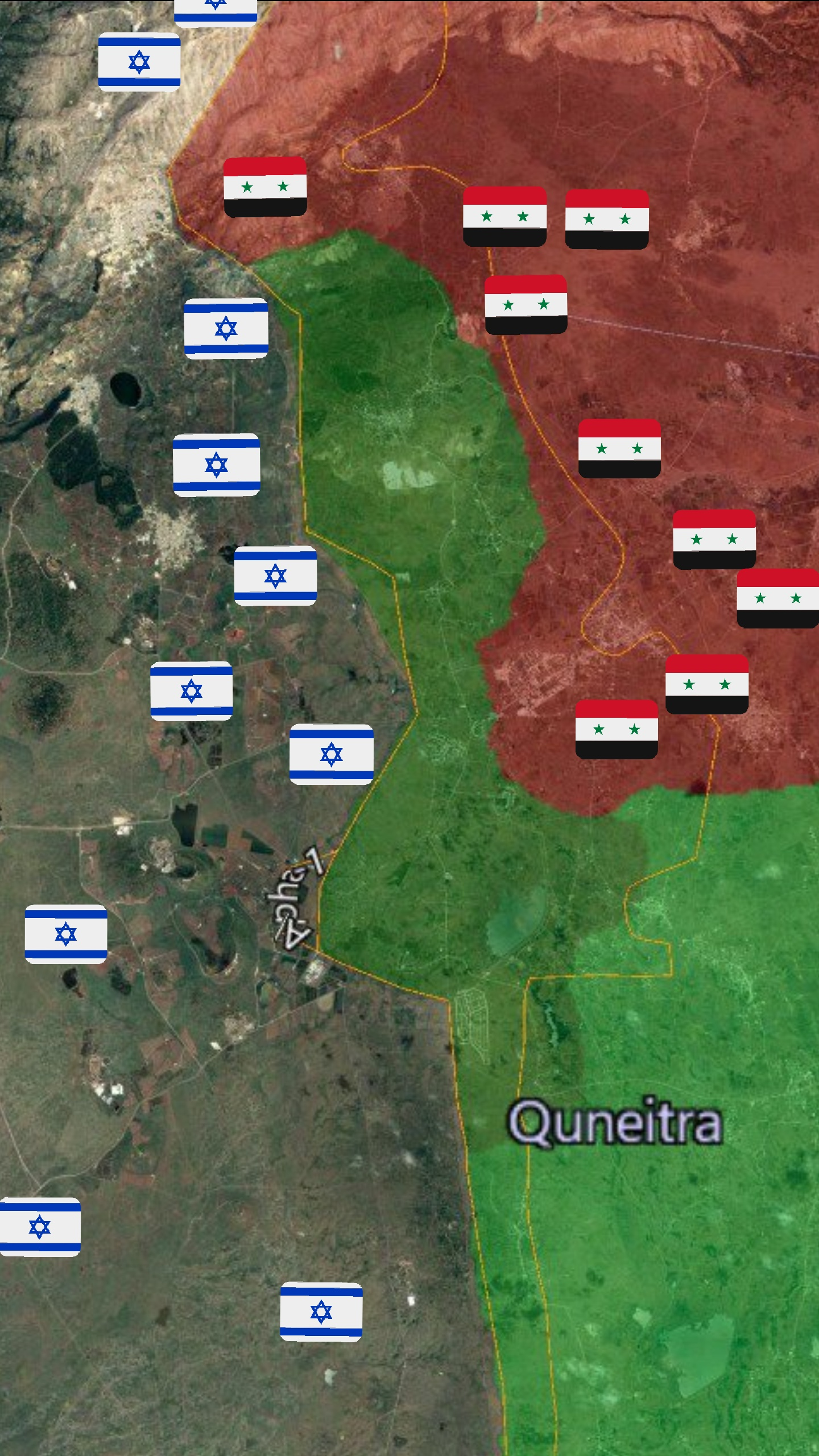 Map: Force disposition and order of battle in Quneitra/Golan ...