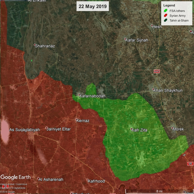 Map: Northwest Hama, 22 May