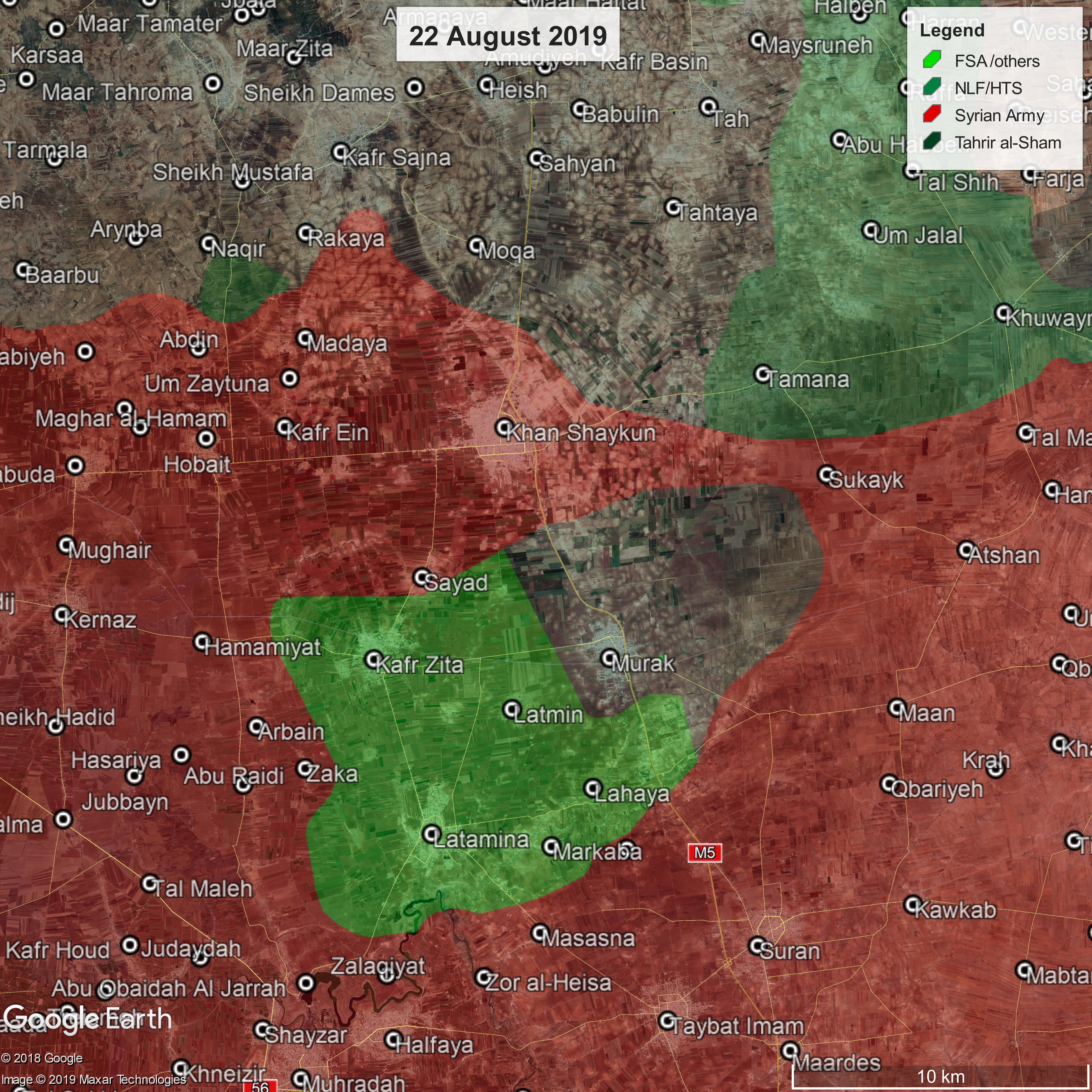 Map update: Battle of Northern Hama – 22nd of August 2019